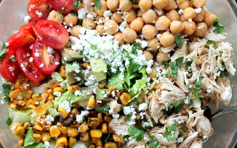 Chickpea Chicken Chopped Salad